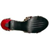 Leopardo Ecopelle 7,5 cm DIVINE-435 grandi taglie sandali donna