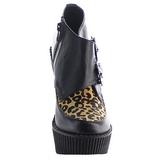 Leopardo Ecopelle CREEPER-306 scarpe creepers zeppe altissime