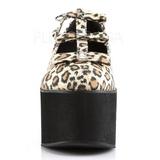 Leopardo tela 8 cm CLICK-08 scarpe lolita gotico calzature suola spessa