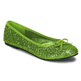 Lime STAR-16G glitter flat ballerinas womens shoes