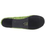 Lime STAR-16G glitter flat ballerinas womens shoes