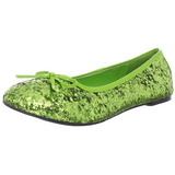 Limette STAR-16G scintillare scarpe ballerine donna basse