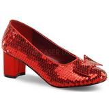 Lustrini 5 cm DOROTHY-01 scarpe décolleté con tacchi bassi