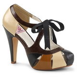 Marrone 11,5 cm retro vintage BETTIE-19 Scarpe da donna con tacco altissime