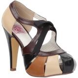 Marrone 11,5 cm retro vintage BETTIE-19 Scarpe da donna con tacco altissime