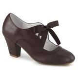 Marrone 6,5 cm WIGGLE-32 retro vintage scarpe décolleté maryjane tacco spesso