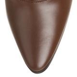 Marrone 7 cm VICTORIAN-120 Stivaletti Stringati Tacco Alto Donna