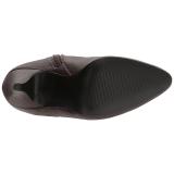 Marrone Ecopelle 10 cm DREAM-2030 grandi taglie stivali donna