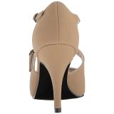 Marrone Ecopelle 10 cm DREAM-412 grandi taglie sandali donna