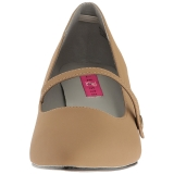 Marrone Ecopelle 6,5 cm KITTEN-03 grandi taglie scarpe décolleté
