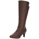 Marrone Ecopelle 7,5 cm DIVINE-2018 grandi taglie stivali donna