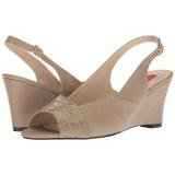 Marrone Ecopelle 7,5 cm KIMBERLY-01SP grandi taglie sandali donna
