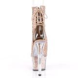 Marrone scintillare 18 cm ADORE-1018G stivaletti plateau suola donna