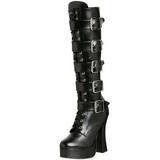 Matto 13 cm ELECTRA-2042 stivali donna con fibbie e plateau alto