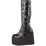 Matto 14 cm SWING-815 stivali donna con fibbie e plateau alto