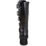 Matto 8,5 cm TRASHVILLE-518 Stivali Gotico da Uomo Plateau
