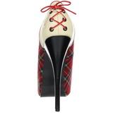 Modello di Plaid 14,5 cm Burlesque TEEZE-26 Scarpe da donna con tacco altissime