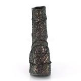 Multi Glitter 18 cm STACK-201G Stivaletti Plateau da Uomo