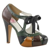 Multicolore 11,5 cm retro vintage BETTIE-19 Scarpe da donna con tacco altissime