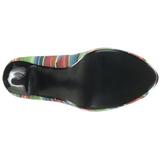 Multicolore 13 cm LOLITA-12 scarpe décolleté spuntate tacco altissime
