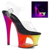 Multicolore 18 cm MOON-708UV Sandali Donna Plateau Neon