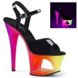 Multicolore 18 cm MOON-709UV Sandali Donna Plateau Neon