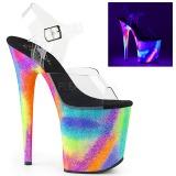 Multicolore 20 cm FLAMINGO-808GXY Sandali Donna Plateau Neon