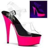 Neon 15 cm Pleaser DELIGHT-608UV scarpe con tacchi da pole dance