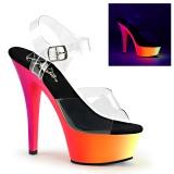 Neon 15 cm Pleaser RAINBOW-208UV scarpe con tacchi da pole dance