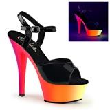 Neon 15 cm Pleaser RAINBOW-209UV scarpe con tacchi da pole dance