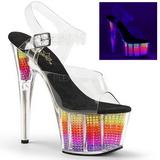 Neon 18 cm ADORE-708SRS Sandali Donna Plateau di Cristallo