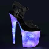 Neon 20 cm FLAMINGO-808REFL scarpe con tacchi da pole dance