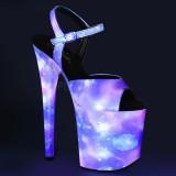 Neon 20 cm FLAMINGO-809REFL scarpe con tacchi da pole dance