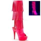Neon Ecopelle 15 cm DELIGHT-2019-3 stivali con frange donna tacco altissime