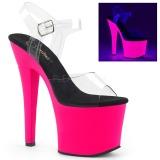 Neon Pink 18 cm Pleaser RADIANT-708UV High Heel Platform