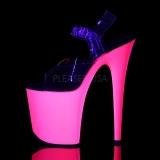 Neon Rosa 20 cm Pleaser FLAMINGO-808UV Tacchi Alti Plateau