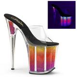 Neon Strass 20 cm FLAMINGO-801SRS ciabatta donna tacco plateau