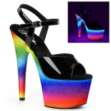 Neon glitter 18 cm Pleaser ADORE-709WR Pole dancing high heels shoes