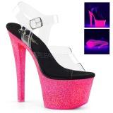 Neon scintillare 18 cm Pleaser SKY-308UVG scarpe con tacchi da pole dance