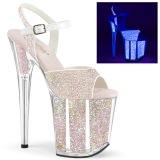 Neon scintillare 20 cm FLAMINGO-810UVG scarpe con tacchi da pole dance