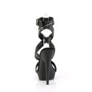 Neri sandali vegano con plateau e tacco 15 cm SULTRY-619