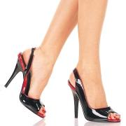 Neri slingback tacco alto con scarpe 13 cm SEDUCE-117