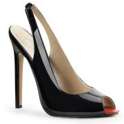 Neri slingback tacco alto con scarpe 13 cm SEXY-08