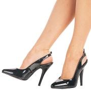 Neri vernice 13 cm SEDUCE-317 slingback scarpe décolleté a punta elegante