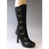 Nero 10,5 cm TESLA-107 stivali da donna con tacco altissime
