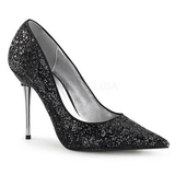 Nero 10 cm APPEAL-20G scarpe décolleté con tacchi a spillo metallo alto