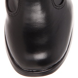 Nero 10 cm CRYPTO-106 stivali donna con fibbie e plateau alto