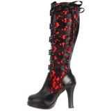 Nero 10 cm CRYPTO-106 stivali lolita gotico con suola spessa
