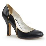 Nero 10 cm SMITTEN-04 Pinup scarpe décolleté con tacchi bassi