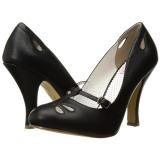 Nero 10 cm SMITTEN-20 Pinup scarpe décolleté con tacchi bassi